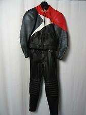 Men's IXS 2 Piece Leather Motorcycle Suit 40R W32 L29