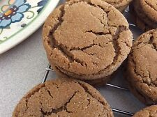 36 (3 Dozen) Homemade Ginger Molasses Cookies Celebration. Made fresh! Soft