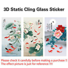 Static Cling Glass Sticker Frosted Stained Peony Window Films Opaque Home Decor