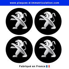 sticker Peugeot noir pour cache moyeu de jante (lot de 4)
