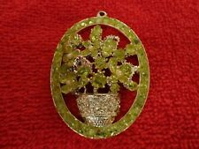 VINTAGE BOUQUET OF FLOWERS NECKLACE PENDANT (NO Chain)--Costume Jewelry
