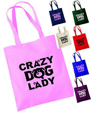 CRAZY DOG LADY TOTE / SHOPPING, TREAT, TOYS, BRUSHES BAG, GLITTER! DOG LOVERS