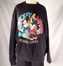 Sweatshirt Disney Minnie Mickey Mouse Sz Large Sweetheart Vintage Black USA