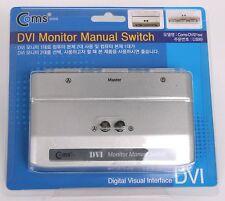DVI 2 Port 2:1 Manual Switcher Selector Switch Box NEW TV LCD Monitor single