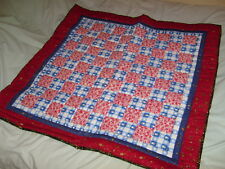 Hand Crafted Lap Quilt Snowman Snowflake Christmas Throw USA 38x40