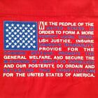 Men's Shirt M Preamble to the Constitution USA Embroidered Red Patriotic