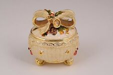 Faberge trinket box hand made by Keren Kopal with Austrian crystals