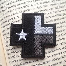 MEDIC CROSS TEXAS TX STATE FLAG USA Tactical EMBROIDERY HOOK&LOOP PATCH