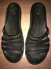 Crocs - Patricia Sandals Wedge Heel Flip Flop Slides Women's Size 7 Black