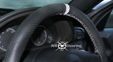 FOR RENAULT MASTER PERFORATED LEATHER STEERING WHEEL COVER +LIGHT GREY STRAP 97+
