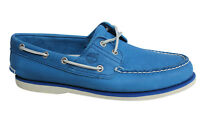 Timberland 2 Eye Classic Lace Up Blue Leather Mens Casual Boat Shoes A1B83 T2