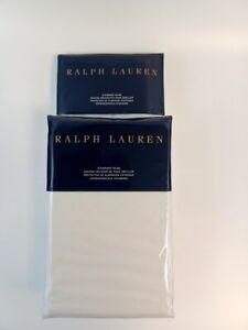 New Ralph Lauren 2 Standard Shams- ISLESBORO Hillsboro Cream