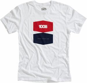 100% MX Motocross BALANCE T-Shirt (White) Choose Size