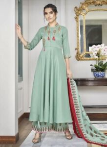 Indian Pakistani Women Readymade Designer Muslin Stone Work Salwar Kameez Suit