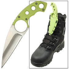 Zombie Killer Apocalyptic Solid Strike Full Tang Lace Hole Tacticle Boot Knife