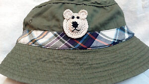 NEW BUCKET FISHING HAT 18 24 MONTHS 3 4 3T 4T YEARS BOYS TODDLER OLIVE GREEN