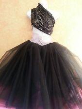 Sex & The City Carrie Sequin Tulle Tutu Rhinestone Ballgown Dress Skirt 4pc Set