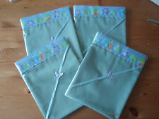 One Handmade Baby Green COTTON Sheet - Tinkerbell satin Crib/moses