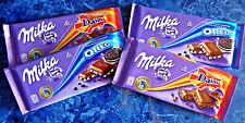 4 x MILKA German Chocolate Bars OREO & DAIM 4 x 100g 3.5oz