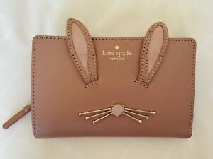 NWT Kate Spade Desert Muse Rabbit Wallet Dara PWRU6491