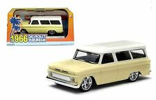 GREENLIGHT 1:43 1966 CHEVY CHEVROLET SUBURBAN DIECAST CAR 86058 CREAM TOP
