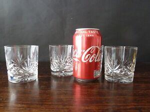 "4x Edinburgh Crystal - STIRLING Cut - Whisky Glasses Tumblers 3"""
