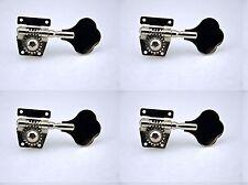 4 Right Nickel Chrome Machine Heads Tuning Pegs for P Jazz Bass Guitar