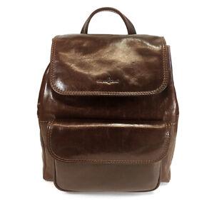 Gianni Conti Smart Brown Leather Rucksack - Style: 9403159 - BNWT