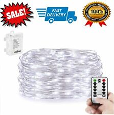 16FT Battery Operated Led String Lights Wire Strip Christmas Xmas Remote Fairy