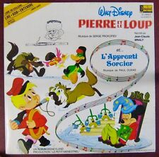 Walt Disney 33 tours Pierre et le loup L'apprent sorcier Jean-Claude Brialy