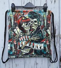 Vintage Tattoo Skull Backpack - Bag Gym Handbag Vintage Romance Love Alternative
