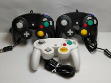 Aftermarket Gamecube Controller Lot of 3 Black White Generic Wii Video Game