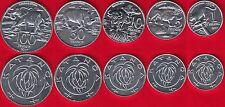 "Katanga set of 5 coins: 1 - 100 francs 2017 ""Animals"" UNC"
