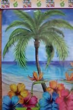 PALM TREE BANNER- LUAU PARTY,TIKI BAR, POOL,TROPICAL DECOR,LOUNGE,TANNING SALON