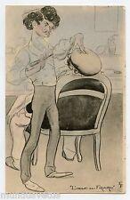 Emmanuel Poiré dit Caran d'Ache . Egg. L'Oeuf Du Figaro . Barbier . Barber