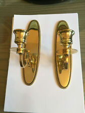 2 BRASS WALL CANDLE HOLDERS