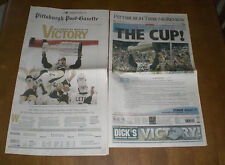 2 2009 PITTSBURGH PENGUINS WIN STANLEY CUP NEWSPAPERS
