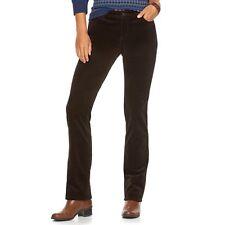 12p Short Chaps Madden Straight Leg Stretch Corduroy Slimming Pants Brown