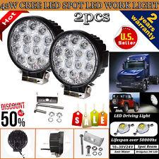 2PCS 42W Waterproof LED Work Light Spot Lamp Car Offroad ATV UTE 12V 24V Jeep