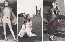TWIGGY LAWSON Vintage Original 3 Photo Group, Amazing RARE 1968 Model Portraits