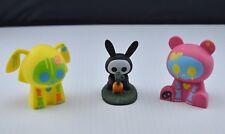 Skelanimals Urban Vinyl Figurines Chungkee Panda + Dax Dog + Jack The Rabbit