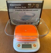 "RANGOLI SH-125 ELECTRONIC KITCHEN SCALE WITH 23oz BOWL, TOP IS  4"" X 4"""