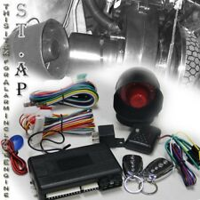JDM x2 Remote Engine Start Car LOCK Alarm Auto Vehicle Truck Security System Kit