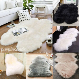 Fluffy Faux Fur Area Rugs Shaggy Soft Rugs Floor Mat Carpet Living Room Bedroom
