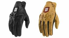 Icon 1000 Baserunner Men's Leather Gloves for Street Motorcycle Riding