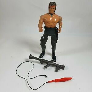 Rambo Vintage Action Figure Coleco 1985 w/Weapons Sylvester Stallone