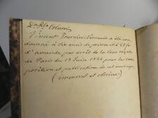 FOURNIER-VERNEUIL Paris Tableau Moral et Philosophique Paris 1826