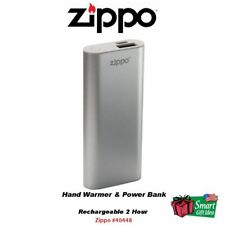 Zippo Rechargeable 2 Hour Hand Warmer & Power Bank Silver #40448