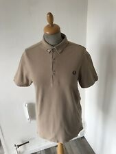 Fred Perry Beige polo TShirt size S chest 36
