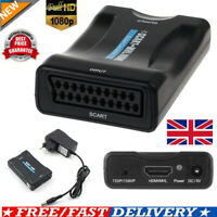 1080P SCART To HDMI Video Audio Upscale Converter Adapter HD TV DVD SkyBox Hot!